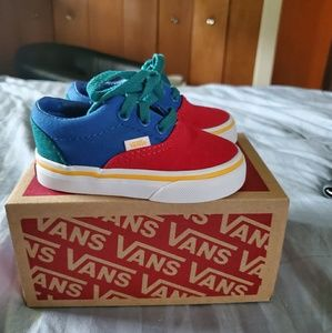 Van's color block shoes